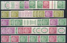 Federale Heuss 1955 stampe insieme ** Michel da W 4-S 36 (s15075)