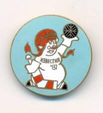 1987 Izvestia Ice Hockey International Tournament pin badge 32 mm Snowman