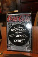 Standard Porcelain Coca Cola Coke 11.5x 7.5 Men Women Sign Vintage Reproduction