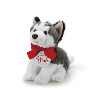 The Christmas Wish Husky Puppy 12 x 7 Inch Small Plush Polyester Animal