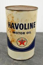Vintage Sealed Texaco Canada Havoline Engine/Motor Oil Can 1 Imperial Quart #3