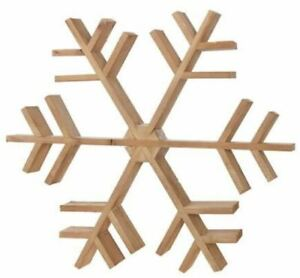 NEW Yuletide Farms Natural Snowflake Wooden Christmas Wreath Wall Decor MSRP $50