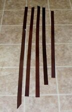 "(QJE5285) Lot of 5 Heavy Weight 1 3/4"" Dark Brown Leather Pieces"