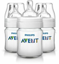 PHILIPS AVENT CLASSIC+ FEEDING ANTI-COLIC BOTTLE 125ml 3Pack WAREHOUSE CLEARANCE