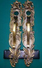 """Amazing Victorian Brass Door Handles Pull 16"""" With Knob"""