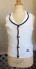TARTINE ET CHOCOLAT White & Navy Cotton SAILOR SWEATER VEST 5 110