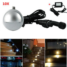 10Pcs 35mm 12V LED Inground Deck Stair Lights Outdoor Garden Path Decor Lighting