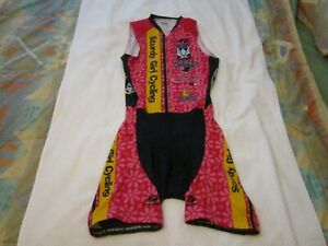 Sturdy Girl Cycling  Tri Suit  Full Zipper Medium
