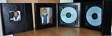 Deluxe Black Photo Double Faux Leather DVD Case Ideal For Weddings Discs ETC