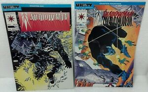 Pair 1992 #4 & 5 SHADOWMAN comic book Valiant NM/VF condition Ultra-Pro sleeve