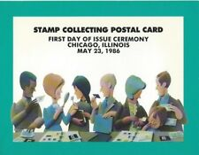 US FDC Scott #UX110 14c Stamp Collecting Postal Card First Day Ceremony Program