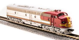 3615 N-SCALE Broadway Limited EMD E8 A-unit, ATSF #84L, Warbonnet Scheme