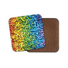 Rainbow Blocks Coaster - Building Bricks Kids Boys Girls Son Sister Gift #14331