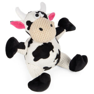 Go Dog Checkers Sitting Cow Plush Dog Toy Small/Med ChewGuard GoDog Comfort Toy