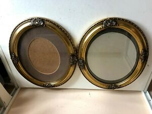 Pair Of Gold Picture Frame Photo Holder Victorian Style Large Vintage Design Hom