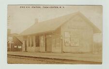 RARE  -- RPPC - Erie RR Depot Station Tioga Center NY 1908 Real Photo Postcard