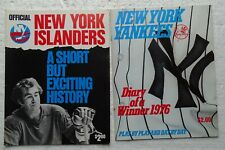 1972-1976 New York Islanders History Yearbook + 1976 Yankees Diary of a Winner