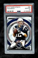 2013 Topps Strata #95 TOM BRADY PSA 10 Gem Mint