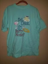 Vintage Eat Drink and Marry Money Gold Digger Parody 80's T-Shirt XL