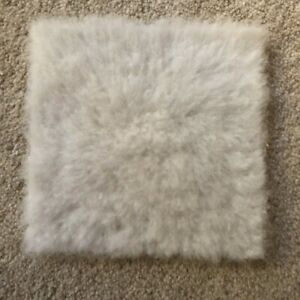 1:12 scale Large White Rug for dolls house