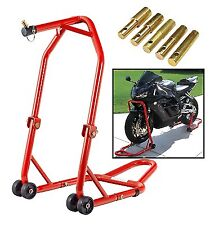 NEW HEAVY DUTY MOTORCYCLE MOTORBIKE FRONT HEAD LIFT STAND PADDOCK STAND