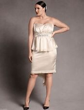 Isabel Toledo $158 Lane Bryant Satin Bustier Strapless Dress Wedding Plus 20