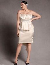 Isabel Toledo $158 Lane Bryant Satin Bustier Strapless Dress Wedding Plus 20