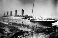 RMS Titanic White Star Under Construction Vintage Ocean Liner Photo Travel Print