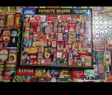 WHITE MOUNTAIN Puzzle Favorite Brands 1000 Piece Jigsaw Puzzle
