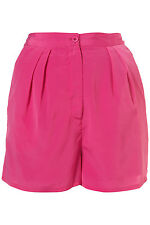 Topshop Hyper Pink Pleat Front Shorts UK 10 EURO 38 US 6 BNWT RRP £32