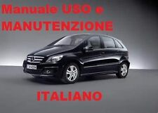 MANUALE USO E MANUTENZIONE MERCEDES CLASSE B ITALIANO W245