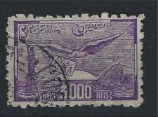 Brésil 1929, Poste aérienne, Oiseaux, 3000r Yv Nr. PA25a, Oblitéré, Dent 9
