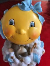 Charming Tails Moon & Stars Bank Mouse Blue Ribbon Boy Theme #93/614