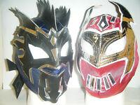 Kalisto & sin cara Niño Infantil Cabeza Máscara de Lucha WWE Disfraz Dar Cuerda