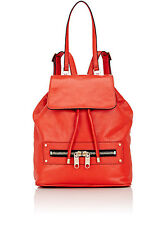 Milly RILEY Convertible Backpack RED Grained Leather/Industrial Details MSRP$425