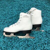Lake Placid Girls Figure Ice Skates White Size 12J