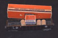 Vintage Original Lionel 6462 Black NYC Gondola Coal Car in box & wooden barrels