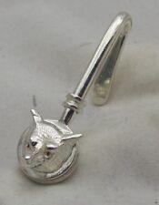 Sterling Silver Fox Masque Serviette Clip Set avec véritable Rubis yeux