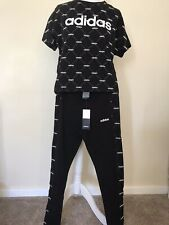 Adidas Fave Legging Black/White 8-10/S