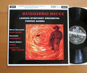 SXL 2197 Ruggiero Ricci Carmen Fantaisie etc Gamba MINT Decca 180g WB Reissue