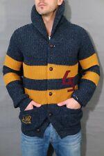 G-Star Pit Shawl Cardigan Knit L/S Gr.L Brittany Blue Strickjacke Wool Vest