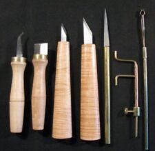 Lot de 7 Outils Lutherie Violon Alto Couteaux Canifs Luthier Outillage Bois Vent