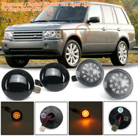 Pair LED SIDE MARKER WING REPEATER INDICATOR LIGHTS For Range Rover L322