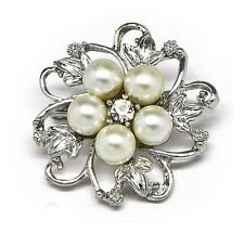 Cheap White Ivory Pearls Bridal Dress Shoes Wedding Brooch for Women Decoration