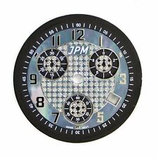 Techno JPM Black Mother Of Pearls Dial Silver Number Markers 32.5 MM