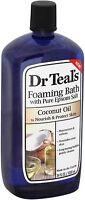Dr Teal's Foaming Bath, Coconut Oil 34 oz (Pack of 2)