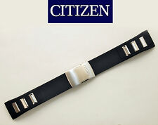 Citizen Original Watch Band AT8030-00E BLACK Rubber Strap 23mm Deployment buckle
