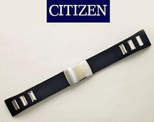 Citizen Original Watch Band AT8030-00E BLACK Rubber Strap 23mm Deployment buckle