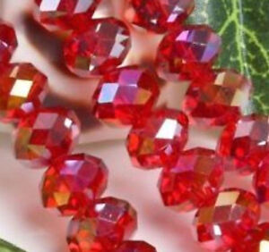200 Pcs Wholesale 27 Colors 5x8mm Faceted Crystal Gemstone Rondelle Loose Beads