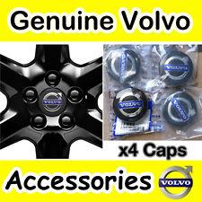 Genuine VOLVO Black Alloy Wheel Centre Hub Cap Kit S40 V50 C70 S60 V70 S80 XC90